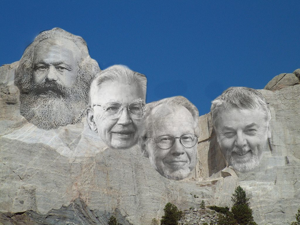 OrgVue - Mt. Rushmore - Marx, Coase, Williamson and Hodgson