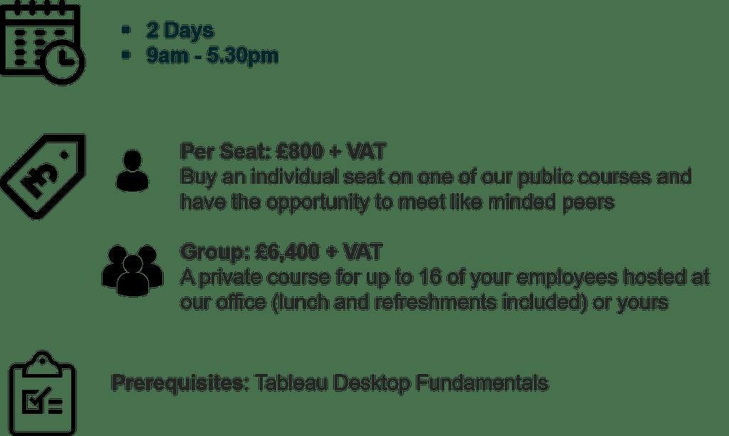 Tableau Desktop -Advanced Training Courses in London